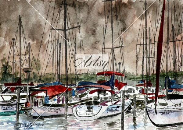 Sailboats nautical art prints