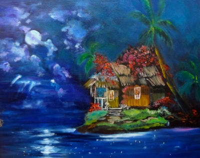Moonlit Hawaiian Homestead