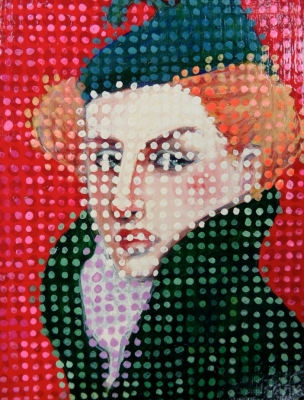 Dotted woman's head