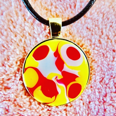 Radiant Yellow Red White Pendant