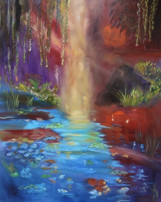 Monet's Sunlit Pond