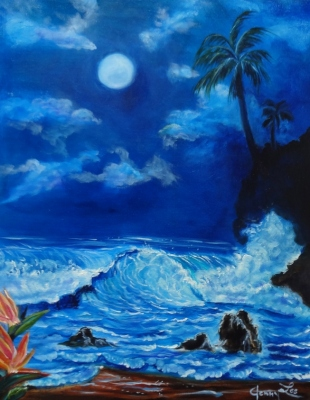 Moonlit Hawaiian Night