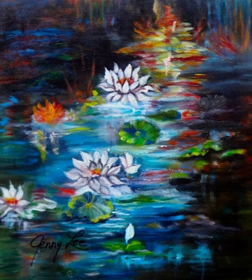 Monet's Pond with Lotus 11